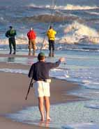 Waves, wind and surf fishing at Cape Hatteras